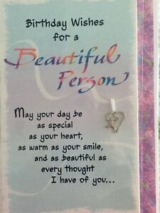 New Blue Mountain Arts Card BIRTHDAY WISHES FOR A BEAUTIFUL PERSON with charm