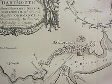 VINTAGE 1753 FACSIMILIE COASTAL CHART/MAP ~ DARTMOUTH THE SHEWETH OAZE BAY