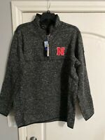 NWT Antigua Golf XLT NCAA Nebraska Corhuskers 1/3 Zip Fleece Pullover