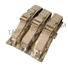CONDOR MA37 MULTICAM MOLLE Triple Airsoft MP5 1,000 D Mag Magazine Pouch