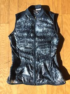 Womens Nike Aeroloft 800 Down Running Vest Blue Camo Medium