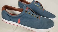 POLO RALPH LAUREN VITO Heather Gray Brown Leather Uppers  Shoes Sneakers 15 15D