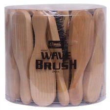 Annie Mini Wave Brush Hard Bristle 50% Light Brown White Boar & Nylon #2069 BULK