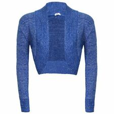 Lurex Bolero Shrug Long Sleeve Shiny Knitted Top Cardigan lot Crop Short Womens