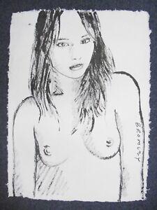 David Bromley Original Painting Acrylic on HANDMADE PAPER 94x70cm MALLORY NUDE
