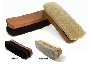 2Pcs SHOE BRUSHES Traditional Boot Polish Buffing Buff Shine Leather Clean Smart