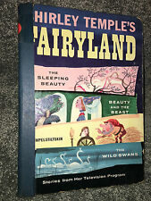 SHIRLEY TEMPLE'S FAIRYLAND BOOK 1958 1st Print SLEEPING BEAUTY And The Beast VTG