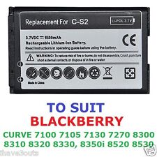Blackberry Curve 1500mAh CS-2 Replacement Battery CS2 8300 8310 9300 9330 & More