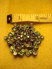 """Mezcla de color verde y blanco Cristal Hexagonal Broche De Metal (2""""/5 cm a través de)"""