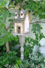 Birdhouse Functional Hanging Bird House with Spindles and Dormers