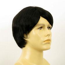 Perruque homme 100% cheveux naturel noir ref GUY 1b