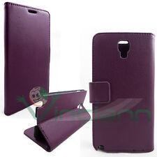 Custodia BOOKLET VIOLA per Samsung Galaxy Note 3 Neo N7505 cover stand+tasche