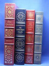 EASTON PRESS FINE LEATHER, 4 BOOKS-CERVANTES IBSEN DANTE ARABIAN, GREATEST BOOKS