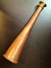 VINTAGE 7 pollici di rame Hunting Horn con 1 3/4 POLLICI BELL & Ottone Boccaglio
