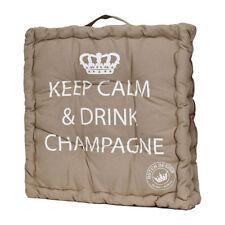 Mars & More Sitzkissen Keep Calm and Drink Champagne Sandfarben Neu