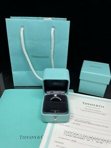 Tiffany & Co Platinum Diamond Engagement Ring - .28 Carat Round Solitaire