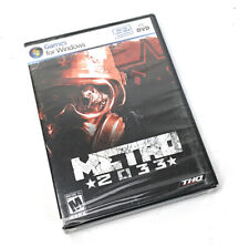 Metro 2033 Games for Windows PC DVD THQ Sealed with Sticker on Back