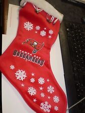 NFL BUCCANEERS CHRISTMAS STOCKING SNOW FLAKE W/ BELLS  BOELTER NEW NWT