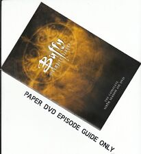 BUFFY -Season 6: PAPER EPISODE GUIDE BOOKLET ONLY - NO DISCS INCLUDED)