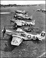 WW2 P-51 Mustangs P-47 Thunderbolts P-38 Lightning Bettisham 1940's 8x10 Photos