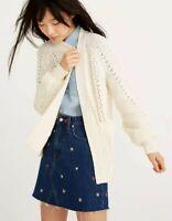 Madewell Sunnyvale Knit Cream Cardigan Sweater Size XS