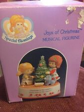 Special Blessings Joys Of Christmas Musical Figurine Faux Strawberry Shortcake