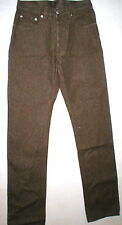 New NWT Designer Helmut Lang Italy Jeans Brown Straight High Waist 26 Womens
