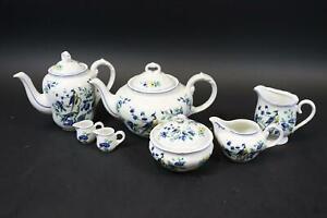 7x Kaffee Tee Kern Service Porzellan Phoenix Blau Villeroy & Boch (DM705)