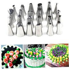 Iron 24 Pcs Icing Piping Nozzles Pastry Tips Cake Decorating Baking Tool Set KG