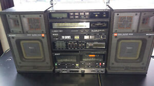 Vintage Retro Sony FH-50WX  Boombox Stereo Cassette Radio Music Works good