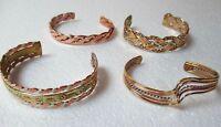 Handmade Mexican Copper Brass Alpaca Silver Cuff Bracelet Your Choice
