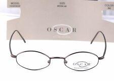 New Oscar De La Renta Men's Oval  Vintage Retro 45-18-145 Brown