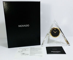 Movado Museum Dial TCL000148M Crystal Pyramidal Clock. A Brand-new, Unused.