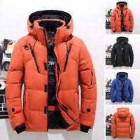 Men's Winter Warm Duck Down Jacket Ski Jacket Snow Climbing Oversize Hooded Coat