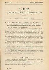 LEX - LEGISLAZIONE ITALIANA - 1942 - LUGLIO-DICEMBRE