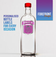 Personalised Pink Vodka bottle label,  PERFECT VALENTINES GIFT/PRESENT