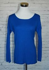 VINCE. 100% Cashmere Sweater Cobalt Blue XS NICE #45