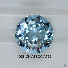AQUAMARINE 7 MM  ROUND CUT OUTSTANDING BLUE COLOR ALL NATURAL