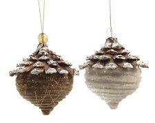 2 x grand pinecone accrocher des décorations nature Noël naturel ou Thanksgiving