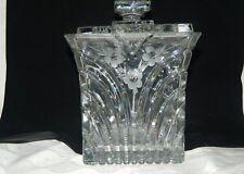 Wundeschöne große Bleikristall Deckel- Keksdose Bonbonniere eckig RAR
