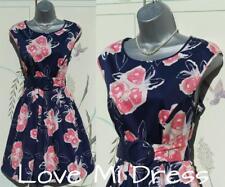 Gorgeous 50's Style Flower Print Tea Dress 12 EU40