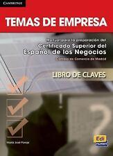 Temas de Empresa Answer Key by María José Pareja López (2014, Paperback)