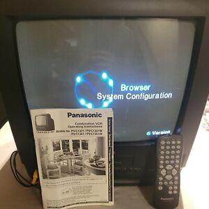 "Panasonic PV-C1341 13"" TV-VCR Retro Gaming Television with remote & manual."
