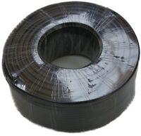 25 Meter schwarzes RG-58U Koaxkabel 50 Ohm - Grundpreis 0,52 € / m