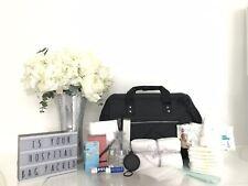Luxury black pre-packed hospital/maternity/change bag mum & newborn baby shower