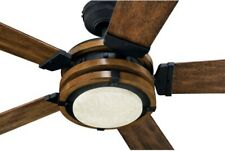 Kichler Barrington 52-in Led Indoor Downrod Ceiling Fan Woodgrain Remote🔥