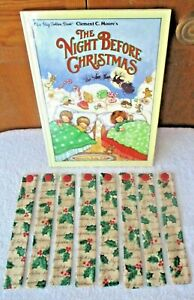 BOOKMARKS~CHRISTMAS DESIGNS~Set Of 2~Fabric & Button~Reversible~Washable~NEW