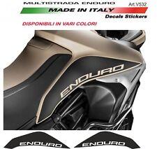 Adesivi per serbatoio Ducati Multistrada Enduro Nero Opaco