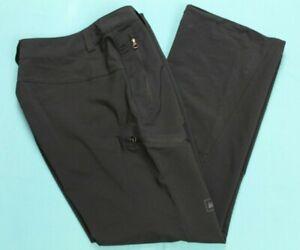 REI Womens Outdoor Pants Adjustable Drawcord Hem Size 6 Petite Black EUC #16051