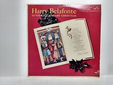 Harry Belafonte To Wish You A Merry Christmas Record From RCA Victor       lp587